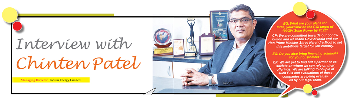 Interview of Mr.Chintan Patel