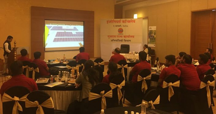"""Explanation of Solar rooftop System during """"IOCL ENGINEERS CONCLAVE"""" Gujarat at kensvilla on 09/01/2018"""